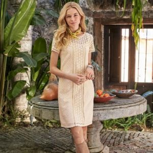 Sundance vanilla eyelet shift dress 14